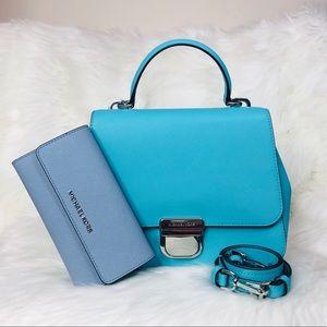 Michael Kors Bridgette TH Messenger Bag Wallet Set